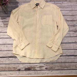 Banana Republic Men shirt Button Down Irish linen